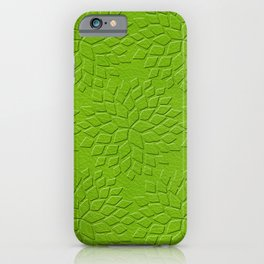 Leather Look Petal Pattern - Greenery Color iPhone Case