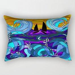 Golden Sails Rectangular Pillow