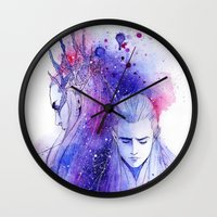 legolas Wall Clocks featuring Thranduil and Legolas by Kinko-White
