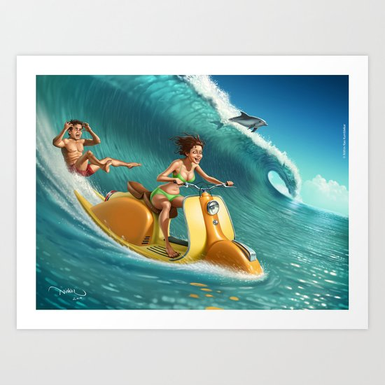 Big Wave Art Print