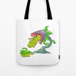 A Cute Greeny Cactus Plant Tee For You With Illustration Of A Cactus And Zombie Plant T-shirt Design Tote Bag
