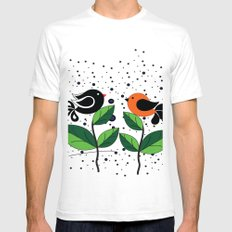 cute bird SMALL Mens Fitted Tee White