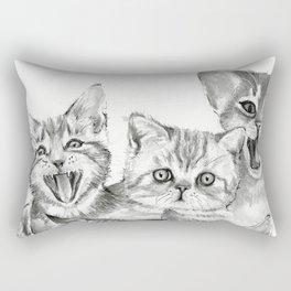 Kittens Pattern Cute Meowing Cats Rectangular Pillow