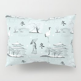 Japanese Toile Pillow Sham