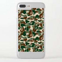 bape camo Clear iPhone Case
