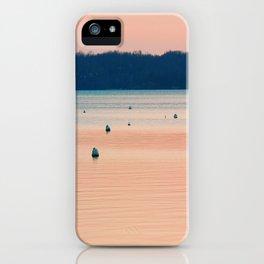 Pink sunset on Severn River, MD | Minimalist landscape photography iPhone Case