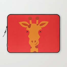 Smiling Giraffe by cammie Laptop Sleeve
