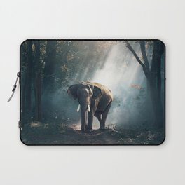 Beautiful Elephant in the Woods Laptop Sleeve