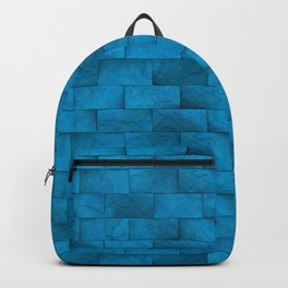 Blue Stone Blocks Wall Texture Backpack