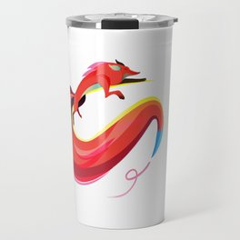 Fox painting the skyline Travel Mug