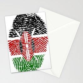 Kenya Flag Finger Print Stationery Cards