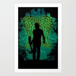 Winged survival. Art Print