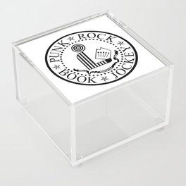 Punk Rock Book Jockey White Logo Acrylic Box
