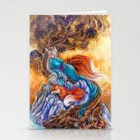 kitsune Stationery Cards featuring Kitsune by Nemeth Alina