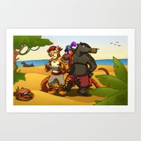 Treasure map Art Print
