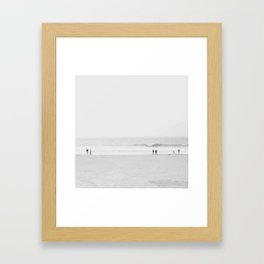 Ocean Beach, B + W Framed Art Print