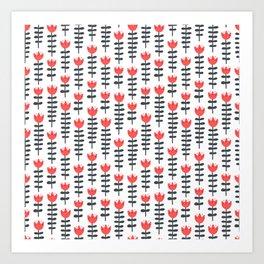 red flowers pattern Art Print