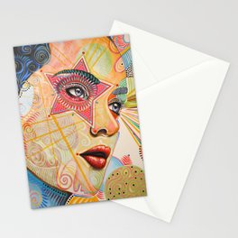 Abstract Art Female Women Portrait Painting ...Honestly Speaking Stationery Cards
