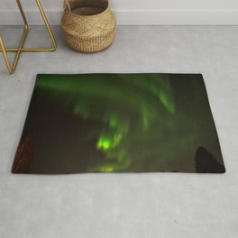 Northern lights in the North of Sweden Rug