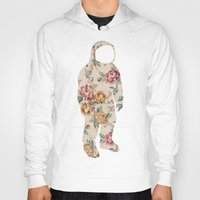 neil gaiman Hoodies featuring Floral Neil  by Grafity Apparel
