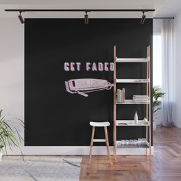 Get Faded Vintage Classic Barber Barbershop Barbering Tools Gift Idea Wall Mural