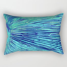 blue half moon mushroom Rectangular Pillow