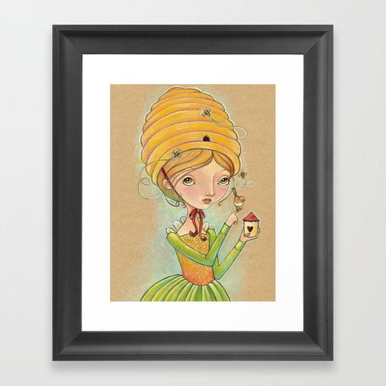 The Only Bee in My Bonnet Framed Art Print