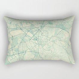 Ankara  Map Blue Vintage Rectangular Pillow
