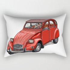 Red 2cv Rectangular Pillow