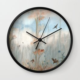 Trees by the Beaver Dam Wall Clock