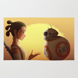 Rey and BB-8 Rug
