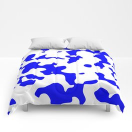 Large Spots - White and Blue Comforters