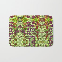 Stained Glass Jewels Bath Mat
