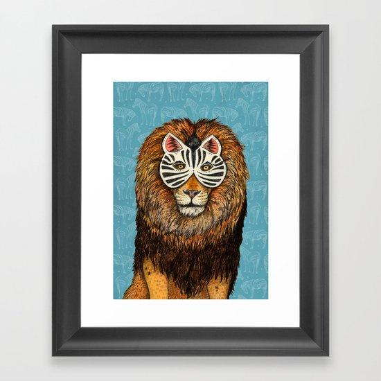 ZebraLion Framed Art Print
