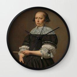 Elisabeth van Kessel (1640-1717), Wife of Willem Jacobsz Baert, Caesar Boëtius van Everdingen, 1671 Wall Clock