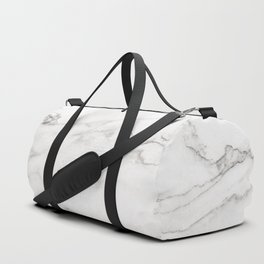 White Marble 006 Duffle Bag