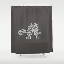 Reinhardt Type illust Shower Curtain