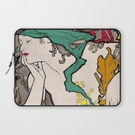 Vintage Alphonse Mucha Poster Girl Laptop Sleeve