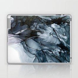 Dark Payne's Grey Flowing Abstract Painting Laptop & iPad Skin