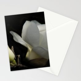 Yulan-Magnolia and bud on black -2- Stationery Cards