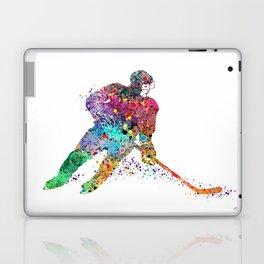 Girl Ice Hockey Sports Art Print Laptop & iPad Skin