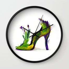 Feathered Heel Wall Clock