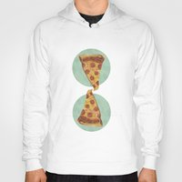 pizza Hoodies featuring pizza by Sara Morán