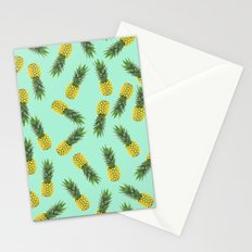 blue pineapple pattern Stationery Cards