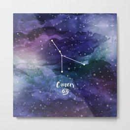 Cancer constellation Metal Print