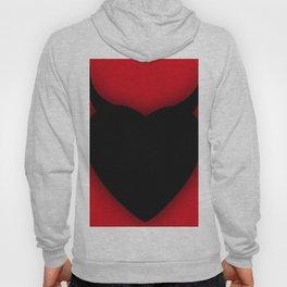 Heart Series Love Black Devil Horns Heart Evil Valentine Gift Hoody