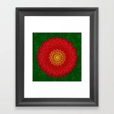okshirahm rose mandala Framed Art Print
