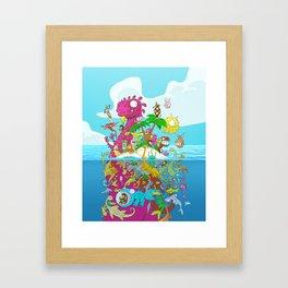 What lies beneath the ocean? Framed Art Print