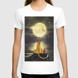 both with bright moon T-shirt