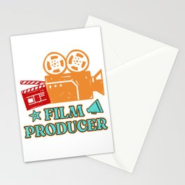 Film Producer Camcorder Movie Clapperboard Gift Stationery Cards